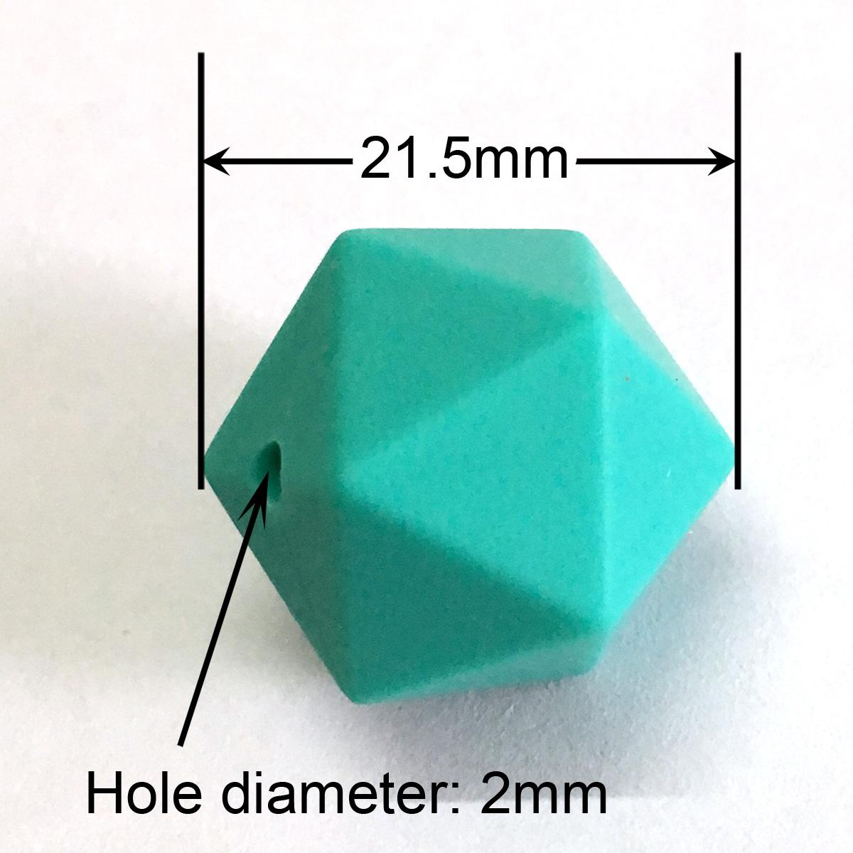 21.5mm icosahedron silicone beads