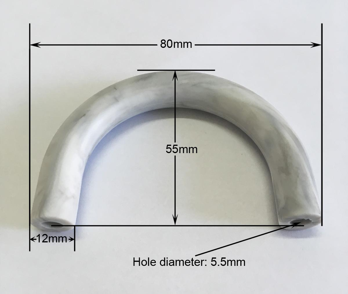 U tube silicone bead