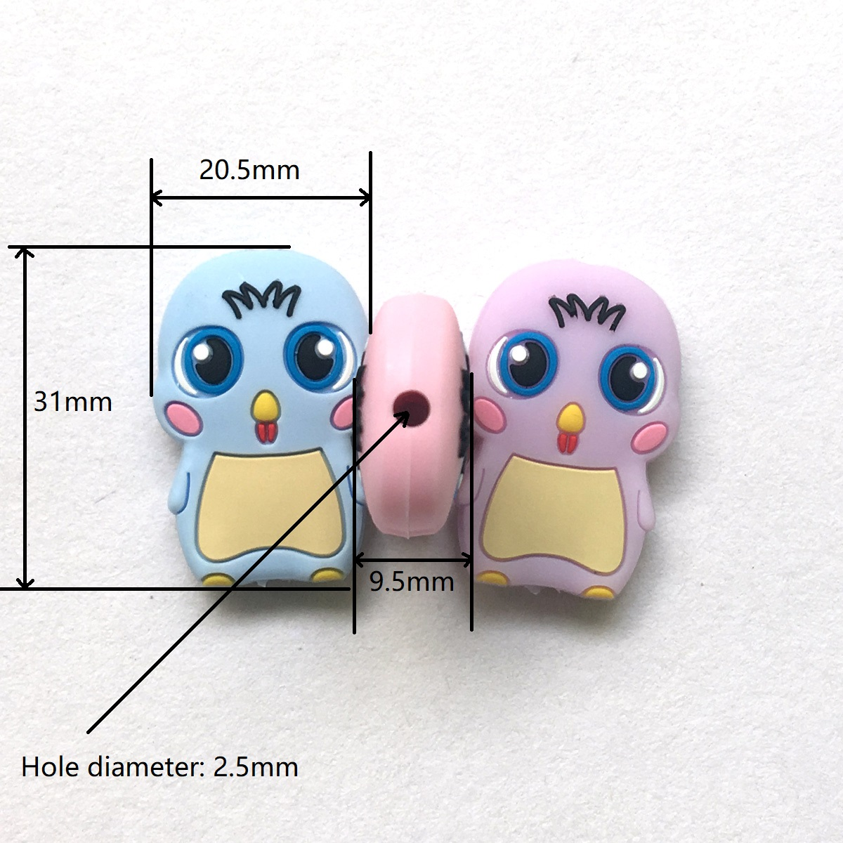 silicone chick beads