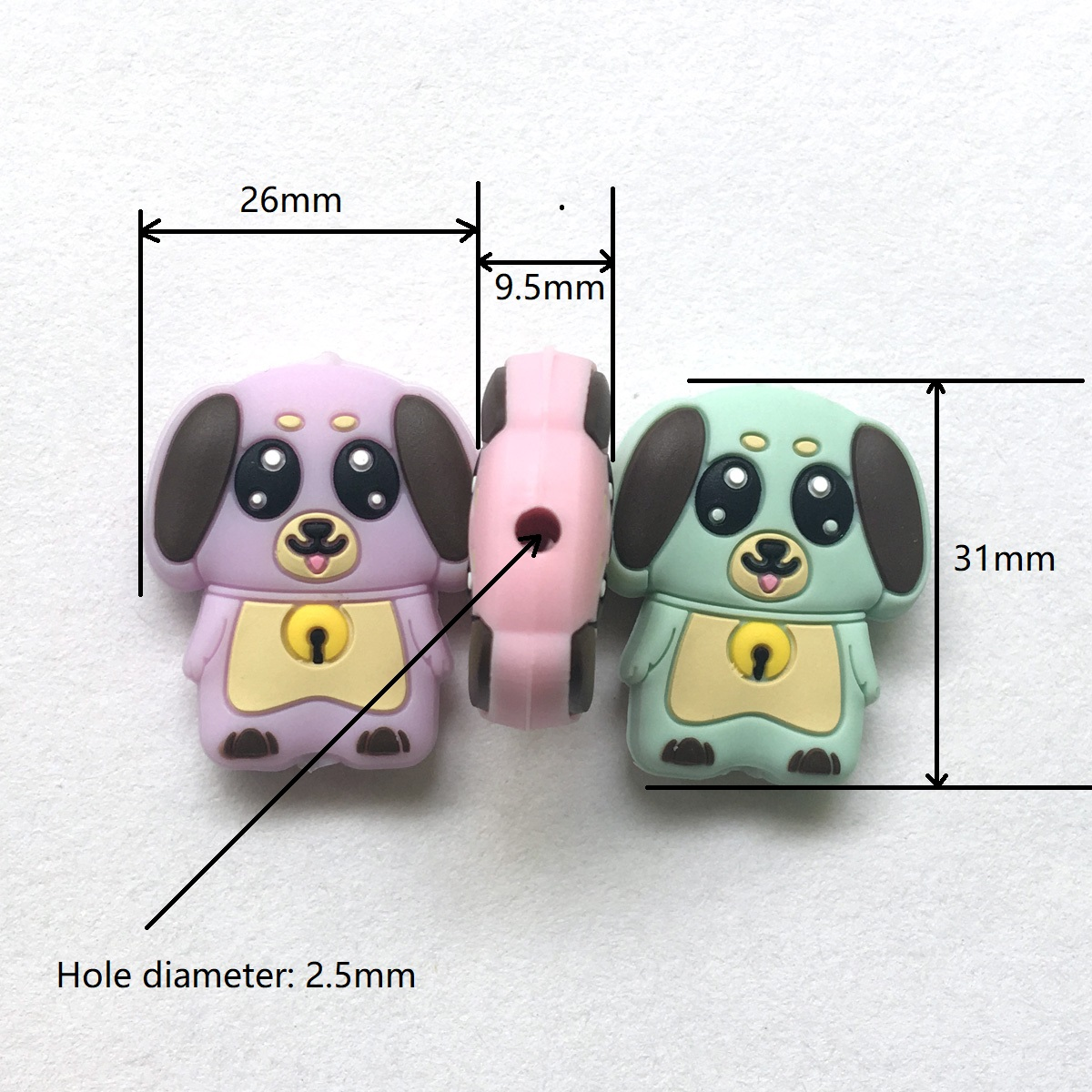 silicone dog beads