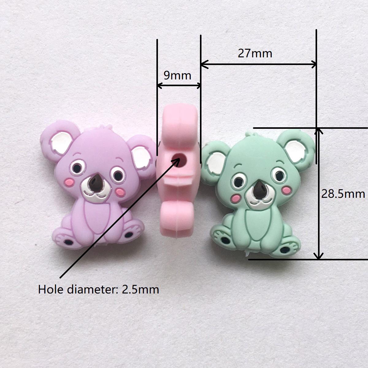 silicone koala beads