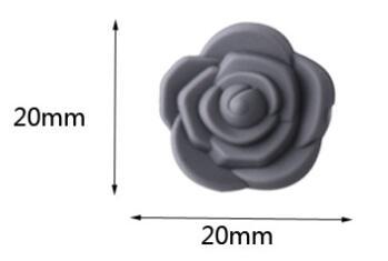 silicone flower beads