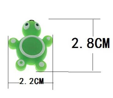 silicone turtle bead
