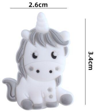 size of silicone unicorn beads