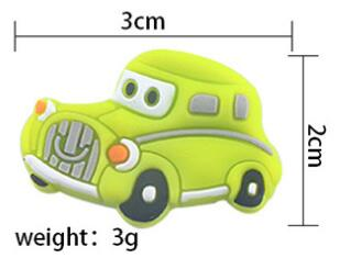 the size of three view silicone car beads