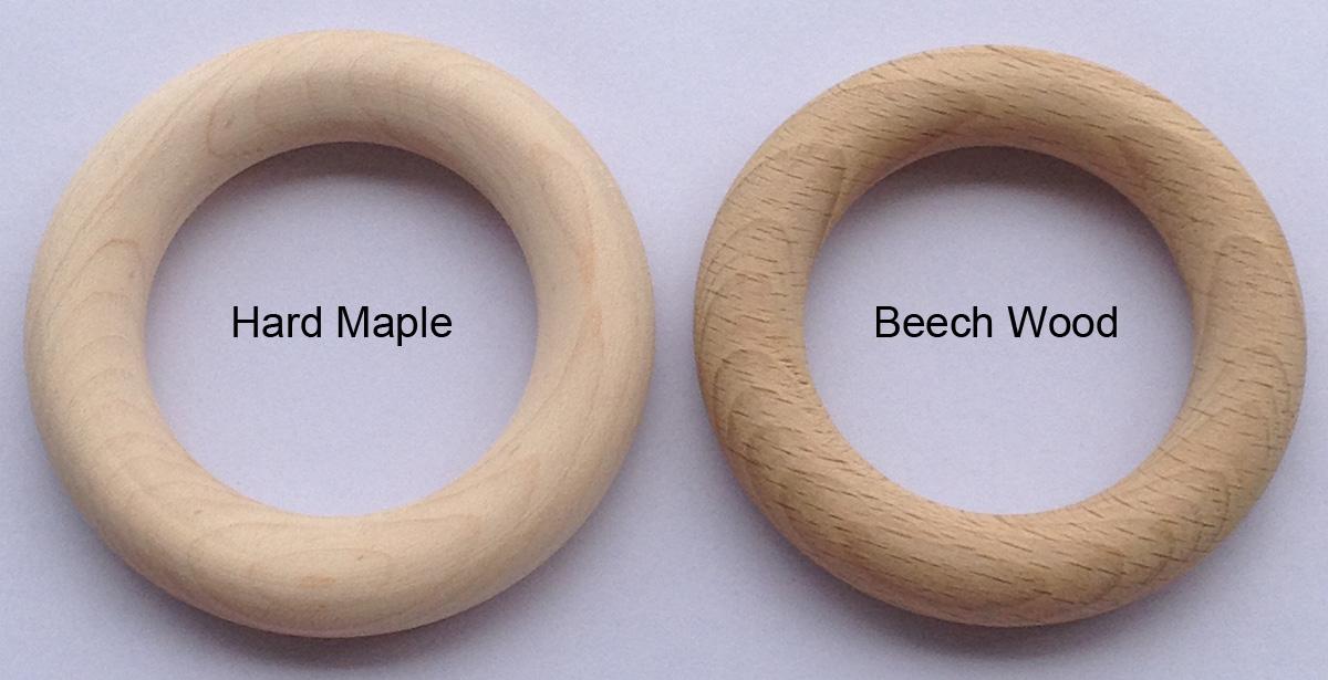 wood teething ring
