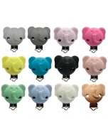 10pcs elephant silicone pacifier clips baby dummy clips dummy holder soother clips without chain