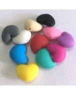 1 piece Silicone Heart Bead 100% Food Grade Silicone Bead BPA Free Loving Heart Shape Silicone Bead