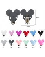 10pcs mouse silicone pacifier clips cute silicone dummy chain clips baby teething pacifier clips without chain