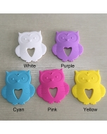 1 piece 100% Food Grade Silicone Owl Teether Non-toxic Baby Teething Toy BPA Free Baby Teething Owl Baby Chewable Owl