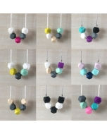 1 piece Silicone Teething Necklace Plastic Breakaway Clasp Necklace Baby Chewable Teething necklace for Mom to Wear