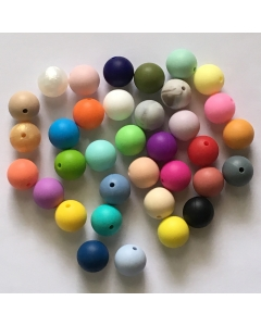 1 piece 15mm Silicone Round Bead Baby Chewable Silicone Bead BPA Free 100% Food Grade Silicone Bead for teething necklace or bracelet