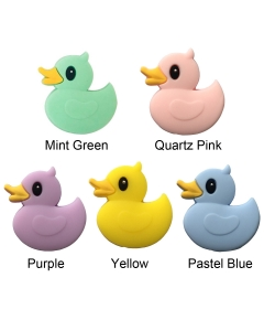 10pcs Side View Silicone Duck Beads BPA Free Baby Teething Beads 100% Food Grade Silicone Beads