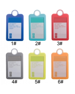 50pcs vertical silicone badge holder silicone id card holder silicone id badge holder