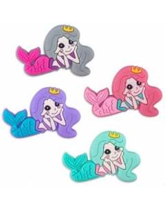 10pcs silicone mermaid beads bpa free baby teething beads 100% food grade silicone beads
