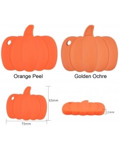 1 piece silicone pumpkin teether bpa free Halloween silicone teether 100% food grade silicone teether for pacifier clip